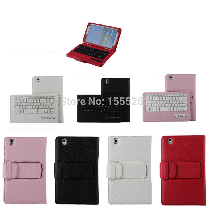 2015 New Arrival Removable Bluetooth Keyboard Case For Samsung Tab Pro 8.4 T320 T321 Cover Tablet free shipping<br>