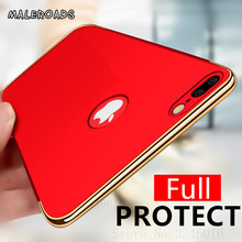 Luxury Plating Hard Back Phone Cases For iPhone 5 5s se 6 6s 8 Plus X Case Ultra Thin 360 Full Cover For iphone 7 Plus Case(China)