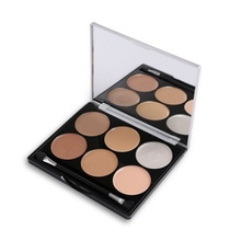 2017 All Round Contour Highlighter Flawless Make-up Base Corrector 6 Color Concealer Palette Facial Corrective Makeup 21g