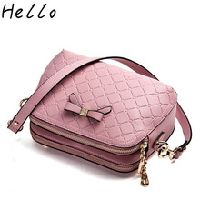 Spring Summer Women Bag 2017 NEW PU Leather Cute Bow Shell Single Shoulder Bags  Women Mini Crossbody Bags for Women Pink/Gold