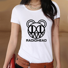 Radiohead Summer White Slim Style Graphic Print T shirt Women Tshirt Swag Clothes Tee Top Gift Printed UK Music Radio Head