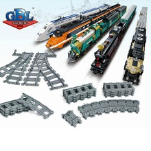 The Railroad Track Mini Bricks Single Sale Suit for Train Toys Railway Accessories DIY Building Blocks Gifts For Children