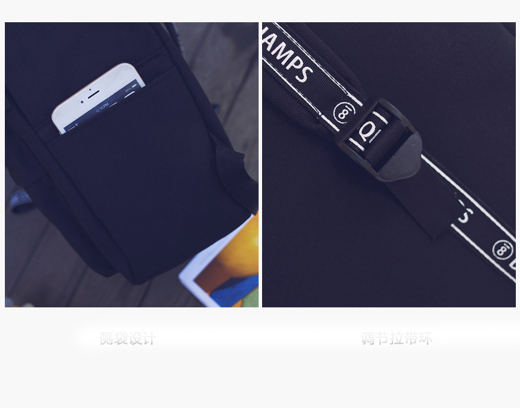 School Bag Wemen Korean Style Harajuku Ulzzang High School Student Fashion Popular Joker Backpack Canvas Simple Preppy Style08