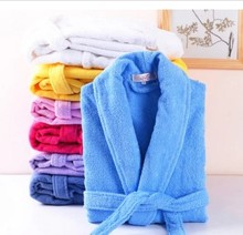 Couple robe winter thick bathrobe 100% cotton toweling bathrobes lovers robe men and women long robe nightwear pajamas(China)