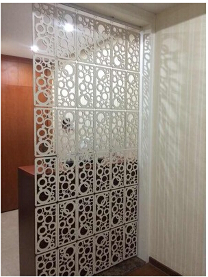fashion hanging screen carved wpc entranceway partition room dividers home