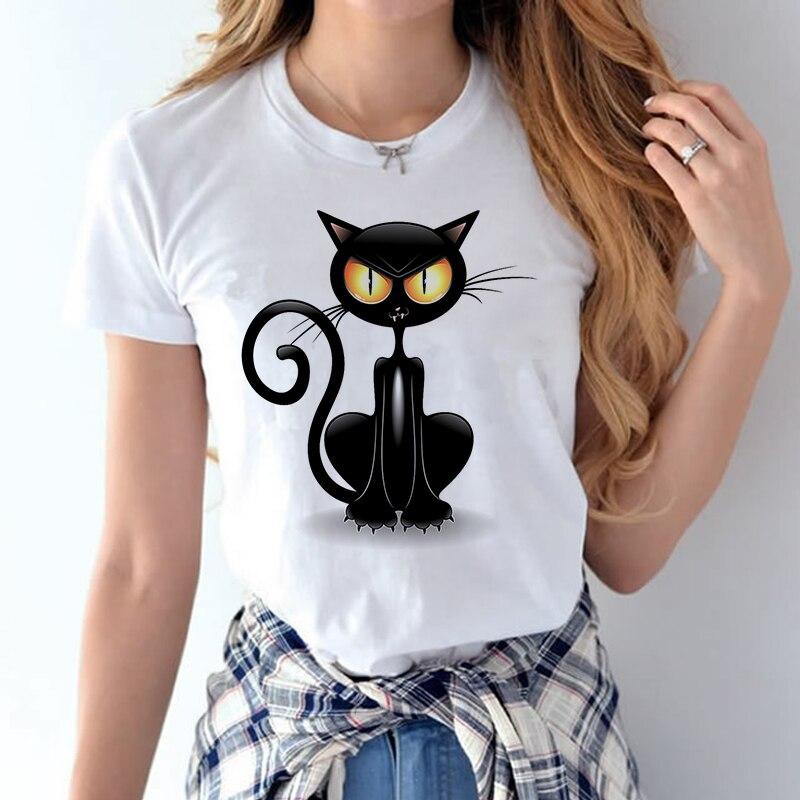 100% Coton 2018 Femmes T chemises D'été Amour Imprimé T-shirt Bande Dessinée Occasionnel de Court Manches Shirt Tops Plus La Taille Blanc T-shirt 16