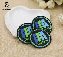 Custom rubber labels , PVC material as design logo groove line 3D effect rubber patch for shoes , clothing, bags embossed logo(China)