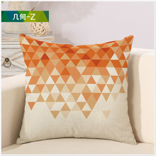 Math Orange Diamond Geometry Pattern White Pillow  Cover Massager Decorative Pillows Warm Nature Home Decor Elegant Gift