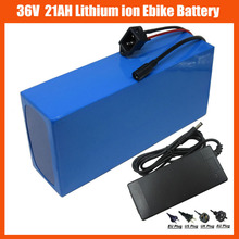 1000W 36V 21AH Electric bike lithium Battery 36V 21AH Scooter battery Use Samsung cells 3000MAH 30A BMS 42V 2A charger(China)