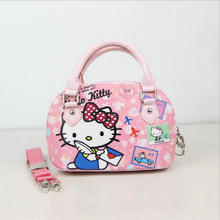 2017 NEW Brand Children baby girls cute hello kitty handbag Kids Cartoon Handbag Dsigns shoulder bags children Pink handbag