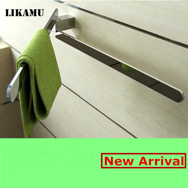 Bathroom Active rod with chrome finished  brass towel bar  double towel shelf  squaer Bathroom Accessories<br>