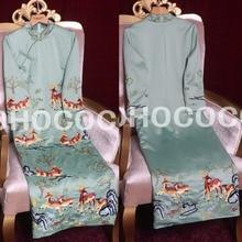 Luxury Brand Embroidery Dress Women Clothes Spring Hot Sale Green Chinese  Style Cheongsam Sheath Dress( 36626f9b23e0