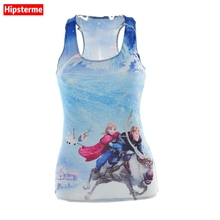 Buy Hipsterme Summer Sexy tank top workout Anna Kristoff Sven Hans Olaf rozen 3D print sleeveless tops Girl singlet Women camisolas for $7.49 in AliExpress store