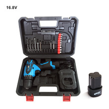 16.8V Electric Screwdriver Two Battery Cordless Screwdriver Rechargeable Parafusadeira Furadeira Electric Drill Power Tools