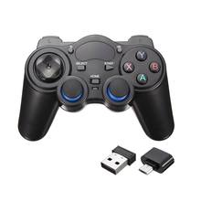 New 2.4GHz Wireless Game Controller Gamepad Joystick For Android TV Box PC GPD XD New w/ OTG Converter Computer Game Controllers