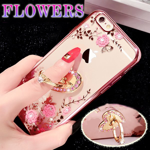 Kerzzil Love Heart Metal Plating Kickstand Case iPhone 7 6 6S Plus Bling Diamond Back Soft Slim TPU Cover iPhone 6 7 6S