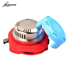Blue Color Red Package Portable Pure Cupper Acupuncture Moxa Box Stick Burner Moxibustion Tank HT0155