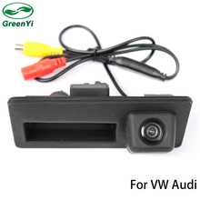 GreenYi Special Trunk handle CCD Car Rear View Camera Reverse Backup Camera For Audi A4 S4 A6 Waterproof Auto Parking Camera(China)