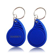 100pcs RFID Keychains Proximity ID card EM 4100/4102 chip blue 125KHz access Key Fob