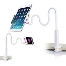 80cm Long Arm Lazy Adjustable Bracket Phone Holder For iPhone 7 6 6S Plus For Ipad Samsung LG Tablet PC Stand Within 4-10.5 Inch(China)
