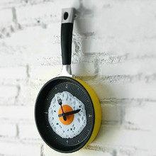 Casual creative gift clock frying pan mini pan - novelty clock home decor hanging kitchen living room decor
