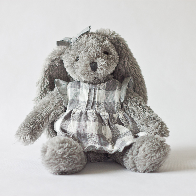 Baby`Birthday Gifts Grey Rabbit With Night Skirt Kids Plush Stuffed Toys Kids Bed Comforting Animals Toys Valentines Gifts 1pcs<br>