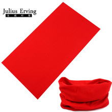 100% Polyester Microfiber Tubular Multifunction Motorcycle Scarf Headband Seamless Tube Bandanas Solid Bandanas Outdoor Red