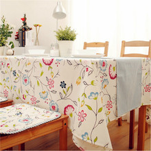 New Arrival Korean Style Rectangular Table Cloth Cotton+Linen Table Cover  for Coffee Table /Dining Table Accept Customize