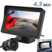 New High Quality 4.3 inch TFT LCD 480 x 272 Car Rearview Monitor + 420 TV Lines  18mm / 170 degrees Backup Parking Camera
