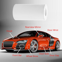 20*160cm Anti-Scratch Car Paint Protection Sill Edge Cover Satin Finish Auto Door Edge Sticker Film Vinyl Sheet Wrap Guard