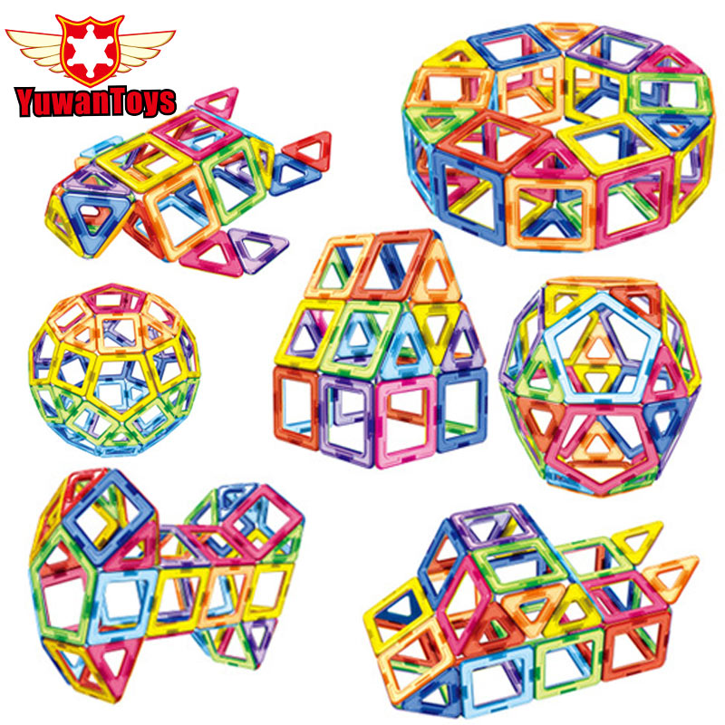 New Series Big Size 104PCS 3D Magnetic Designer Construction Magnetic Building Blocks Educational Toys For Girls And Boys Gifts<br>