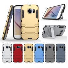 S7 S7 Edge For Samsung Galaxy S7 / S7 Edge Shockproof Hybrid Armor Heavy PC + TPU Case Cover Stand Phone Cases