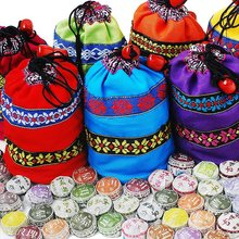 Gifts bag+50pcs different kinds Flavor Puer Tea, Pu'erh with flower / herbal tea,Yunnan Pu er,good for party,gifts,wedding