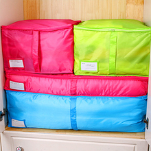 TTLIFE Home Storage Bag Clothes Quilt Bedding Duvet Zipped Handles Laundry Polyester Pillows Storage Bag Box 3 Size