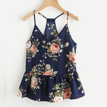 Buy 2018 Fashion Women Strapless Top Floral Casual Sleeveless Crop Top Vest Tank Loose Sexy Shirt Cami Top Summer Beach Halter Vest