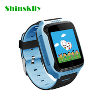 Q528 Cute Smart Kids Watch Passometer Touch Screen GPS Position Safety Monitor SOS Voice Chatting Wristwatch with Flash light(China)