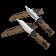 Professional Leggings Diving Knife 440C Stainless Steel Fixed Blade Outdoor Tools Survival Knives with Multi-purpose Scabbard