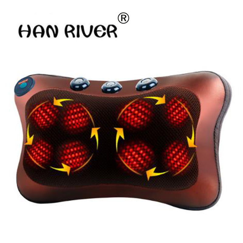 Cervical spine massager neck lumbar back multi-function body massage massage pillow, car cushion for leaning on<br>