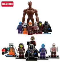 7pcs Kaygoo Guardians of the Galaxy Figures Star Lord Groot Rocket Raccoon Ronan Nebula Gamora Drax Kids Children Toys Xmas Gift