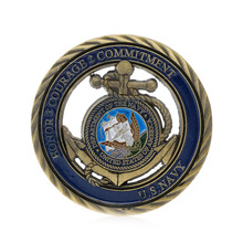 New 1PC U.S. Navy Gold Plated Commemorative Challenge Coin Art Collection Physical Collectible Gift