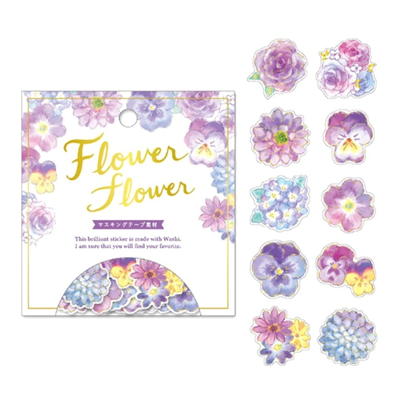Golding Flowers Decorative Stickers Scrapbookings Label Diary Stationery FO