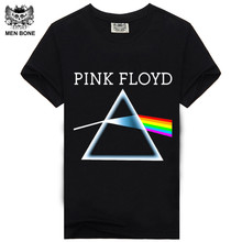 [Men Bone] Summer Fashion Men T Shirt 3D T-Shirt Tshirt Men's Shirt Cotton Rock Band Pink Floyd Printing Music Style Top Tee