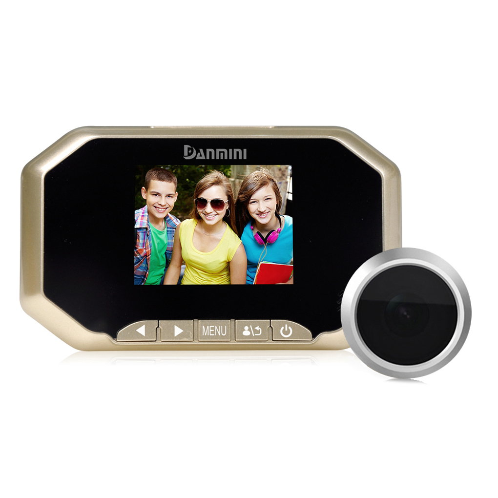 3 HD Digital Peephole Viewer 160 Degrees Door Eye Doorbell Camera Night Vision Motion Detection For Home Security<br>