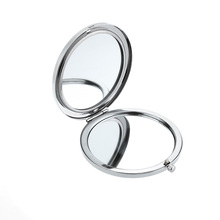 Mini Pocket Makeup Mirror Travel Hand-pained Blue and White Ceramic Compact Folding Cosmetic Magnifying Mirror Make Up Tools(China)