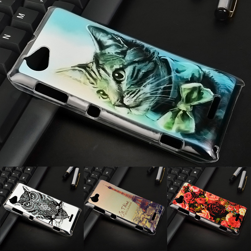 J&R Case Sony Xperia L Hard PC Cover Sony Xperia L S36H C2105 C2104 Patterned Mobile Phone Cases Protective Back Cover