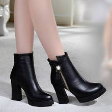 Noopula Genuine Leather Ankle Boots Womens Shoes Leather Boots Women Winter Boot Femme Genuine Fur Woman Snow Shoes Womens Ankle