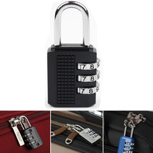 Portable 3 Digit Resettable Combination Padlock Coded Lock School Gym Locker Sheds,Luggage locks for bags(China)