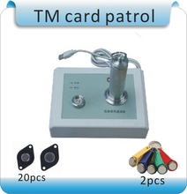 Metal shell OCOM-PA TM-1990 security patrols and attendance systems 1bar +1 data collection base  +20 points