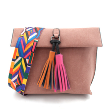 Women Solid Color Tassel Crossbody Bag Female Designer Shoulder Bags Ladies Vintage Messenger Bag Purse Bolsas Feminina Sac 963