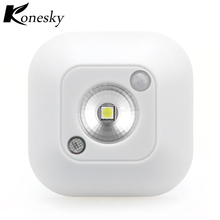 Konesky Light Sensor Night Lights Infrared Induction Temperature Mini Size With Magnet for Bedroom Home Corridor Bathroom(China)